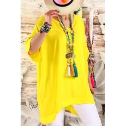 Tunique longue grande taille été jaune IZY-Tunique femme-CHARLESELIE94
