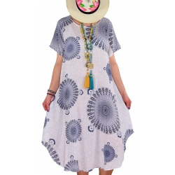 Robe grande taille été asymétrique blanc MOUNIA-Robe femme-CHARLESELIE94