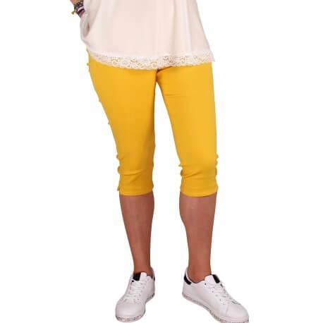 Pantacourt femme grande taille jaune MAYOTTE