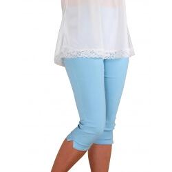 Pantacourt femme grande taille bleu ciel MAYOTTE