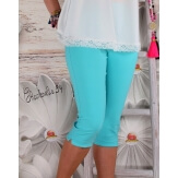 Pantacourt femme grande taille turquoise MAYOTTE