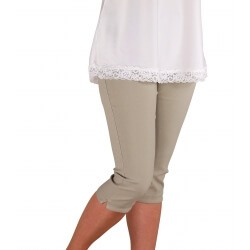 Pantacourt femme grande taille beige MAYOTTE