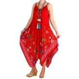 Robe longue grande taille été rouge MAREVA