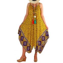 Robe longue grande taille été jaune NAOMI