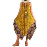 Robe longue femme grande taille été NAOMI Jaune-Robe femme-CHARLESELIE94