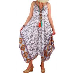 Robe longue grande taille été blanc NAOMI
