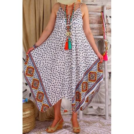 Robe longue femme grande taille été NAOMI Blanc-Robe femme-CHARLESELIE94