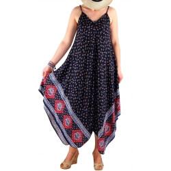 Robe longue grande taille été bleu NAOMI