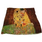 Écharpe foulard en soie xxl imprimé tableau KLIMT
