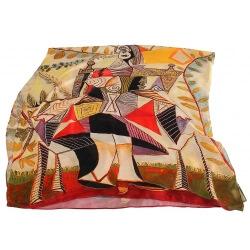 Étole foulard en soie xxl imprimé tableau PICASSO
