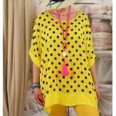 Tunique blouse grande taille été jaune JULIANNE