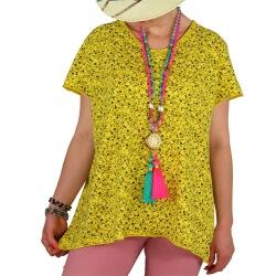 tee shirt coton grande taille liberty jaune EDEN