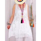 Robe tunique dentelle été bohème blanche ISADORA-Tunique femme-CHARLESELIE94