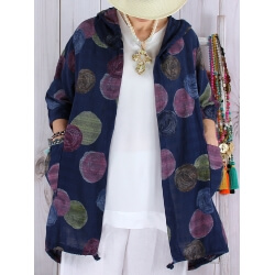Veste femme grande taille coton capuche DORIS Bleu marine-Veste femme-CHARLESELIE94