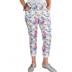 Pantalon grande taille été JAZZ fleurs