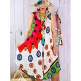 robe MEXICO blanc orange