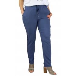 Pantalon jegging femme grande taille lycra GHISLAINE bleu jean