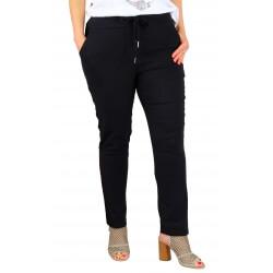 Pantalon jegging femme grande taille lycra GHISLAINE noir