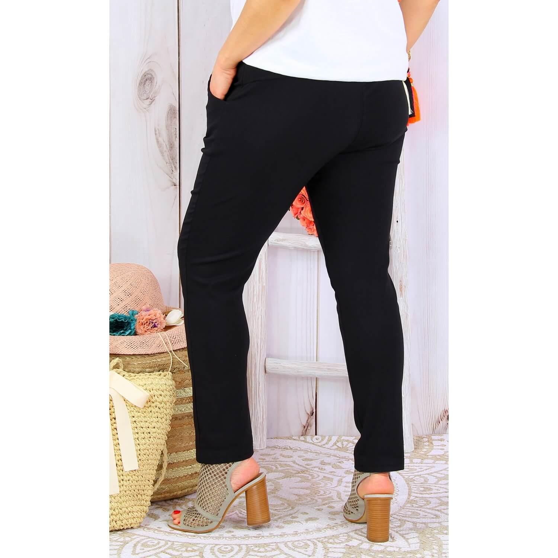 Lycra Taille Pantalon Jegging Noir Ghislaine Femme Grande rBoxWdeC