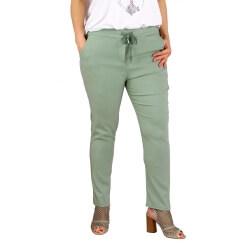 Pantalon jegging femme grande taille lycra GHISLAINE kaki