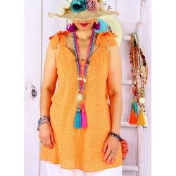 Tunique femme grande taille été liberty KANA Orange Tunique femme