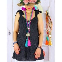Tunique femme grande taille été liberty KANA Noire-Tunique femme-CHARLESELIE94