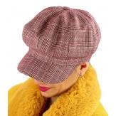 Casquette femme Gavroche laine rouge 6111
