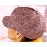 Casquette femme Gavroche laine rouge 6111