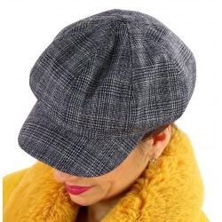 Casquette femme Gavroche laine noire 6111