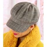 Casquette femme Gavroche laine beige 6111