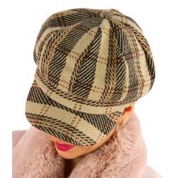 Casquette femme Gavroche laine camel 6114