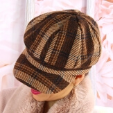 Casquette femme Gavroche laine 6114 Marron Casquette femme