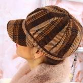 Casquette femme Gavroche laine marron 6114