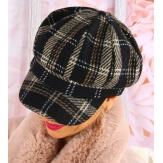 Casquette femme Gavroche laine noire 6114