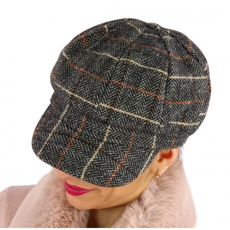 Casquette femme Gavroche laine 6115 Gris-Casquette femme-CHARLESELIE94