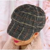 Casquette femme Gavroche laine gris 6115