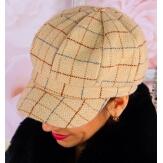 Casquette femme Gavroche laine beige 6115