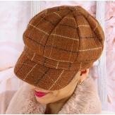Casquette femme Gavroche laine camel 6115
