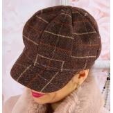 Casquette femme Gavroche laine choco 6115