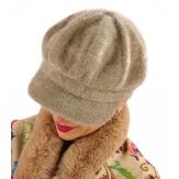 Casquette femme Gavroche laine taupe 6110