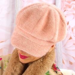 Casquette femme Gavroche laine 6110 Rose Casquette femme