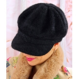 Casquette femme Gavroche laine noire 6110