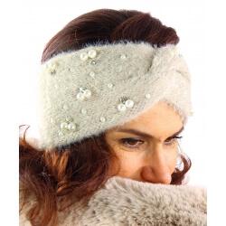 Bandeau turban femme hiver bijoux 306 Beige-Bonnet femme-CHARLESELIE94