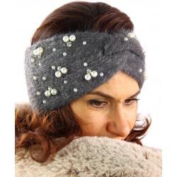 Bandeau turban femme hiver bijoux 306 Gris-Bonnet femme-CHARLESELIE94