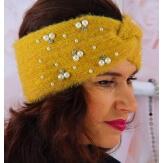 Bandeau turban femme hiver bijoux 306 Moutarde-Bonnet femme-CHARLESELIE94