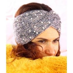 Bandeau turban femme hiver bijoux 301 Rose Bonnet femme