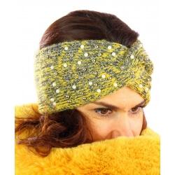 Bandeau turban femme hiver bijoux 301 Jaune-Bonnet femme-CHARLESELIE94