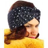 Bandeau turban femme hiver bijoux 301 Noir-Bonnet femme-CHARLESELIE94