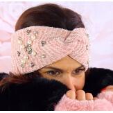 Bandeau turban femme hiver bijoux 305 Rose Bonnet femme