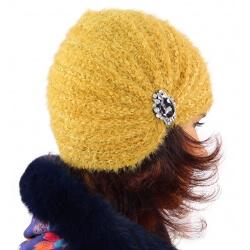 Bonnet turban femme hiver bijoux 304 Moutarde-Bonnet femme-CHARLESELIE94